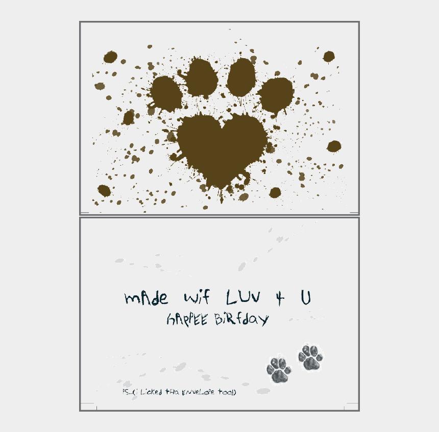 muddy dog clip art, Cartoons - Make Wif Luv Birthday Card - Muddy Paw Prints Dog