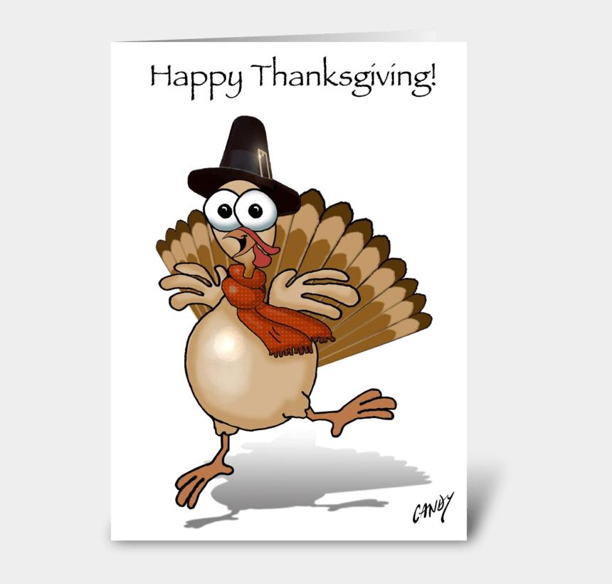 happy turkey clip art, Cartoons - Happy Thanksgiving Turkey Greeting Card