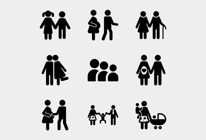 walk vector family get together transparent background family icons cliparts cartoons jing fm transparent background family icons