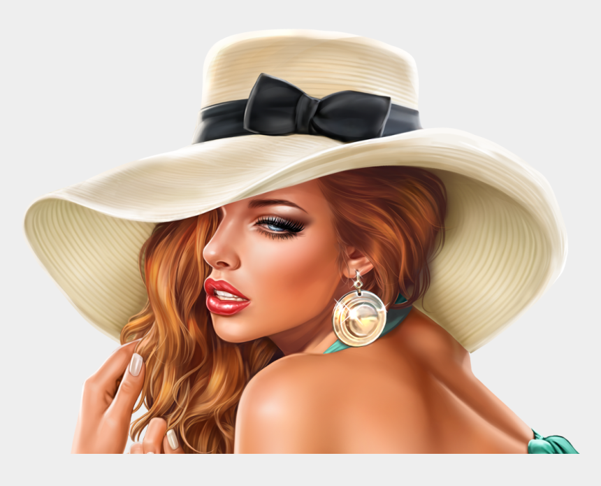 ladies hats clip art, Cartoons - Girl