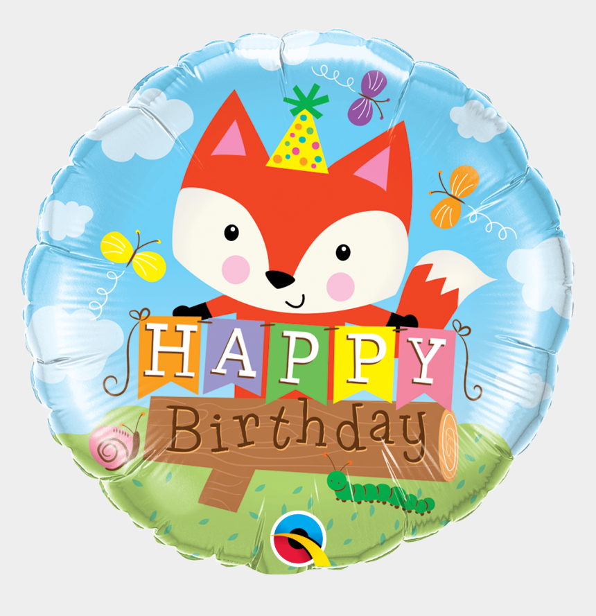 happy birthday party clip art, Cartoons - Fox Foil Balloon
