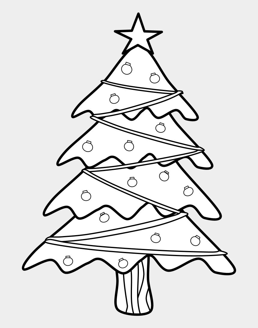 christmas pine cone clip art, Cartoons - Christmas Tree, Black And White - Christmas Tree Transparent Black And White