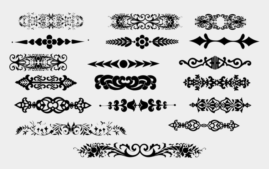 scroll divider clip art, Cartoons - Ornamental Dividers, Floral, Flourish, Border, Frame - Vector Clip Art Design