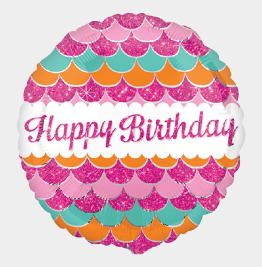 pink birthday balloons clip art, Cartoons - Balloon Foil Happy Birthday