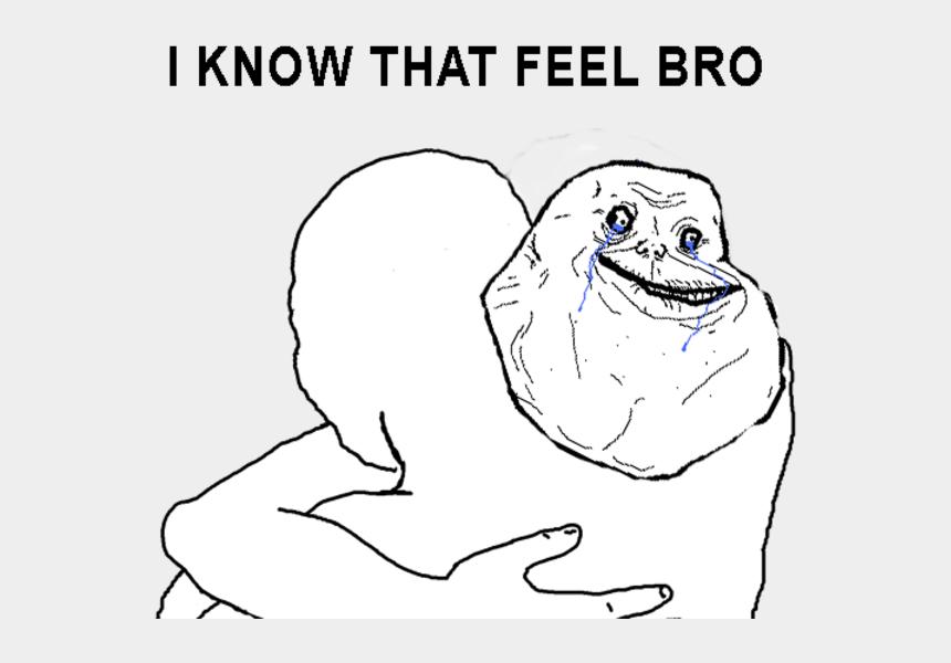 hug clip art black and white, Cartoons - I Know That Feel Bro Face White Facial Expression Line - Feel You Bro Hug