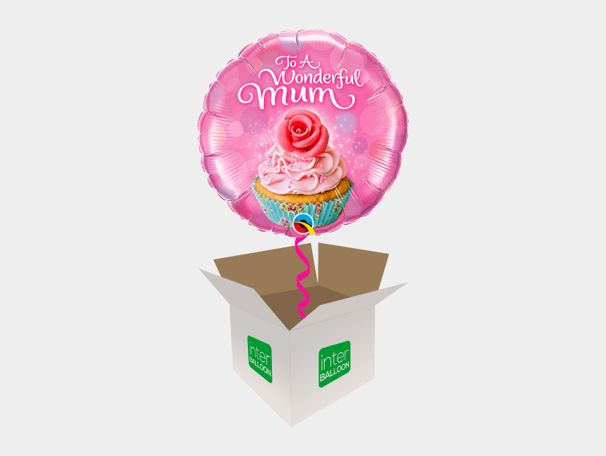 mothers day animated clip art, Cartoons - To A Wonderful Mum Cupcake - Happy Birthday 7th Balloons