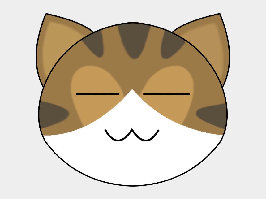 cute cat face clip art, Cartoons - Happy Face