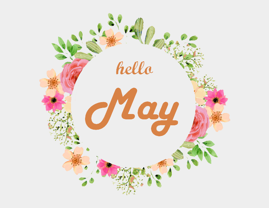 may flower clip art, Cartoons - #hellomay #may #flowers #frame #freetoedit - Circle Floral Pink Png