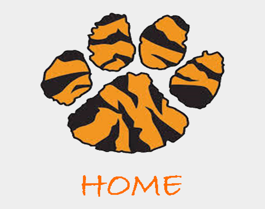 free tiger paw clip art, Cartoons - Tiger Paws Clipart , Png Download - Cartoon Tiger Paw Print