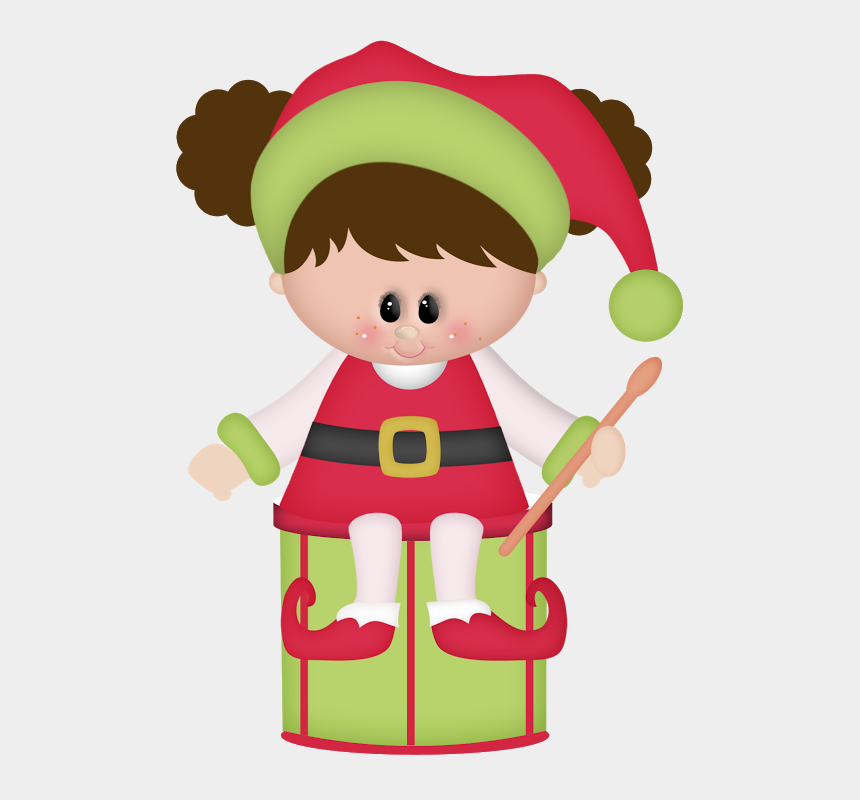 christmas drum clip art, Cartoons - Natal Personagens Holidays Cutting - Christmas Girl Elf Clipart