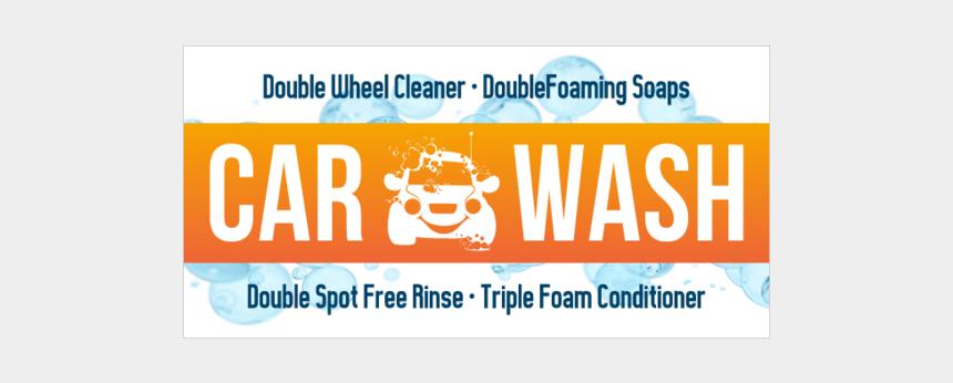 car wash school fundraiser clipart, Cartoons - Express Auto Wash Vinyl Banner With Sponge Graphic - Graphic Design