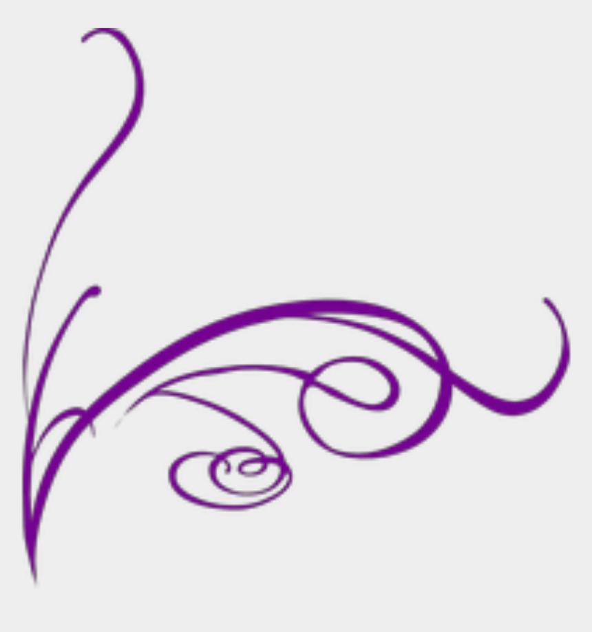 swish clipart, Cartoons - #ftestickers #swish #swirl #border #corner #purple - Decorative Lines No Background