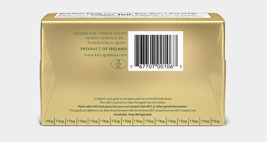 parchment paper clipart, Cartoons - Front - Back - Kerrygold Butter Ingredients