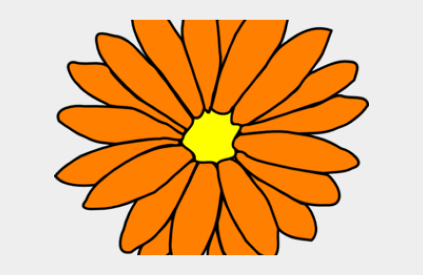 mints clipart, Cartoons - Chrysanthemum Clipart Orange Flower - Single Flower Clip Art