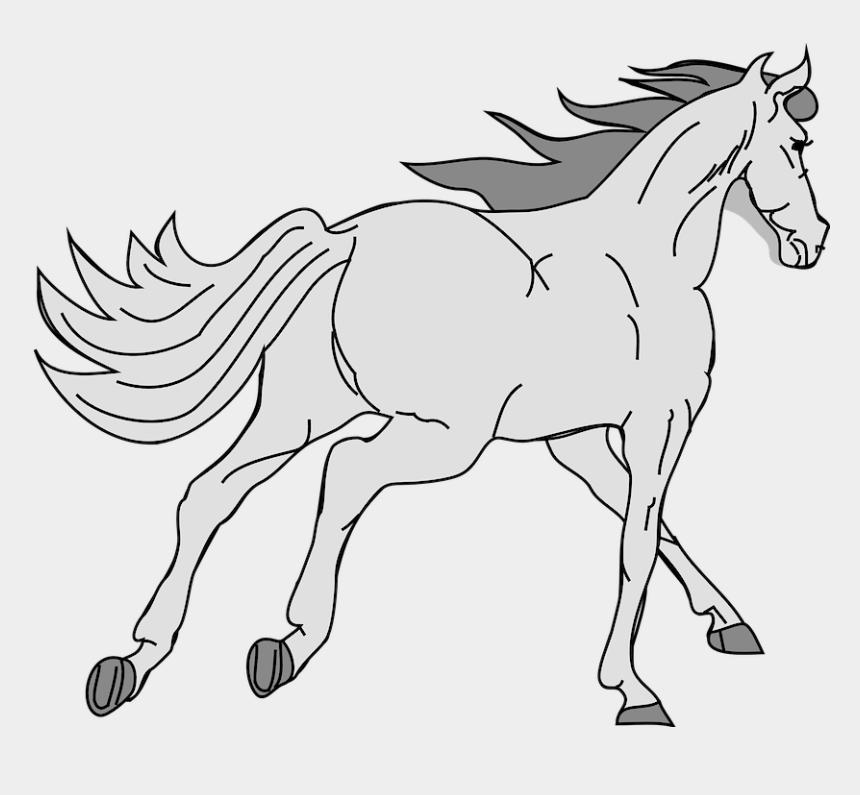 race horses clipart, Cartoons - Horse Pony Race Gallop Tantivy Canter Lope Gray - Gray Horse Clipart