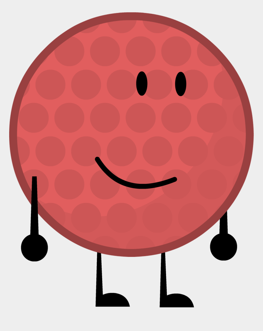 Red Golfball By Brownpen0 - Bfdi 21 Recommended Characters, Cliparts