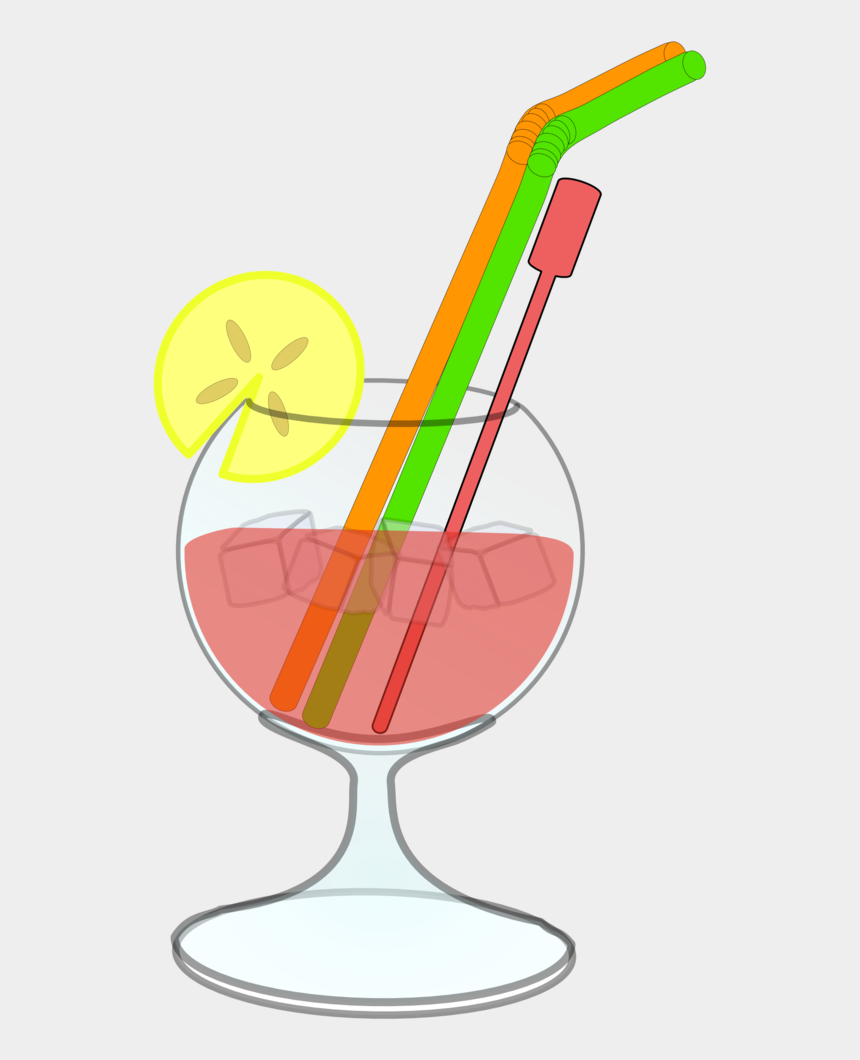 hay bale clipart, Cartoons - Glass Juice Straw Lemon Ice - Cocktail Clip Art