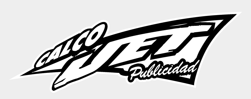 jet clip art black and white, Cartoons - Calco Jet Logo Black And White - Logos And Uniforms Of The New York Jets