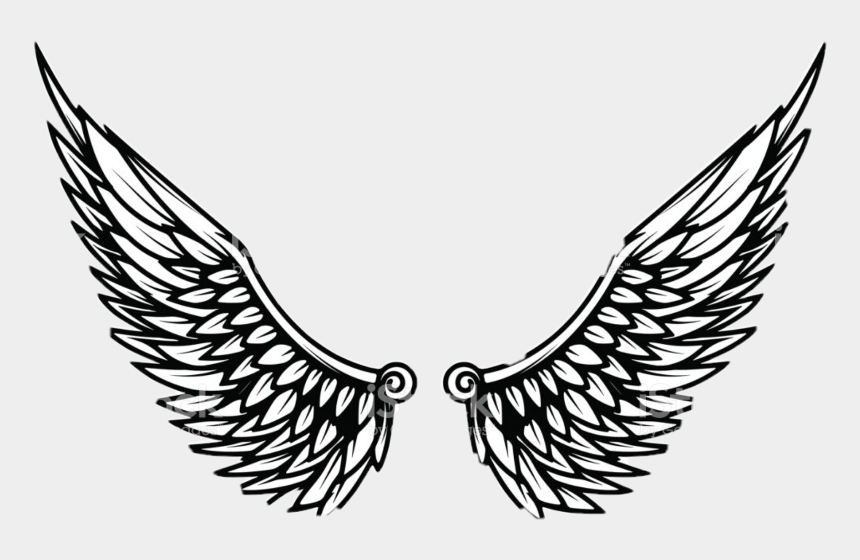 eagle wing clip art, Cartoons - Eagle Wings Template Clipart , Png Download - Eagle Wings Logo Png