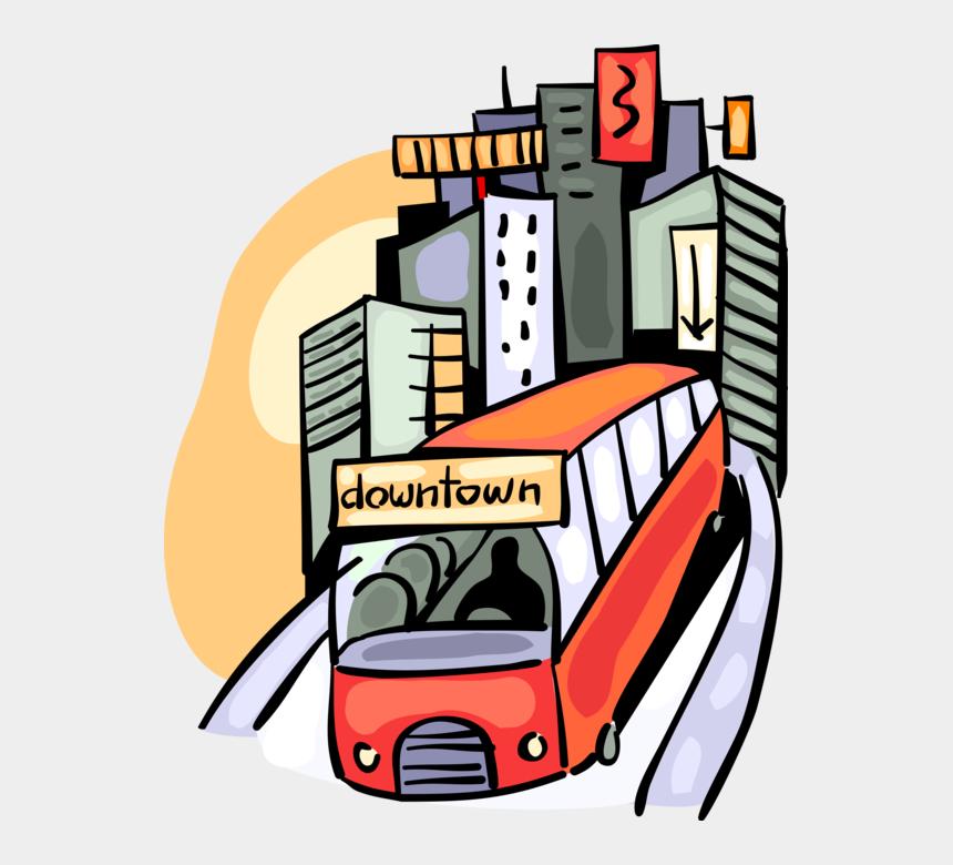 city bus clip art, Cartoons - Vector Illustration Of Public Urban Transportation - Urban Transportation Clipart