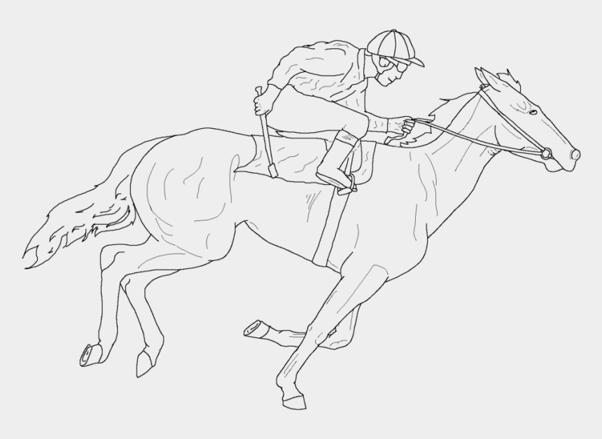 horse racing track clip art, Cartoons - Racing Horse Line Art By Frostwalkers - Race Horse Line Drawing