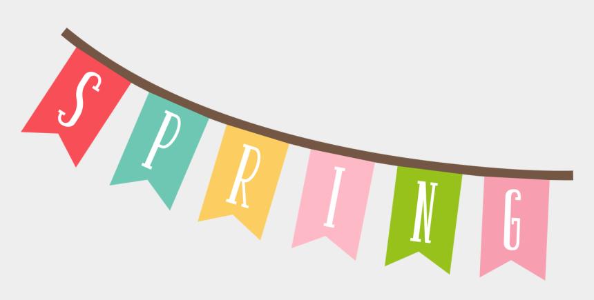 spring clip art banner, Cartoons - Spring Banner Svg Cut File - Transparent Spring Banner