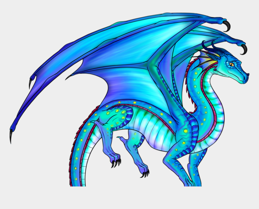 fire dragon clip art, Cartoons - Wings Of Fire Seawing Rainwing Hybrid