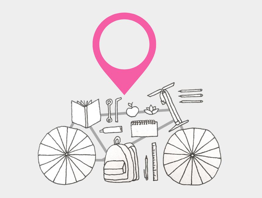 girl riding bike clip art, Cartoons - Sketch Flower Bicycle Drawing