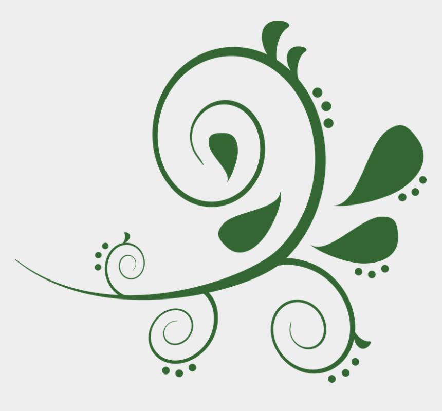 abstract flower clip art, Cartoons - Design, Floral, Abstract, Flower, Art, Decorative, - Clipart Green Swirls
