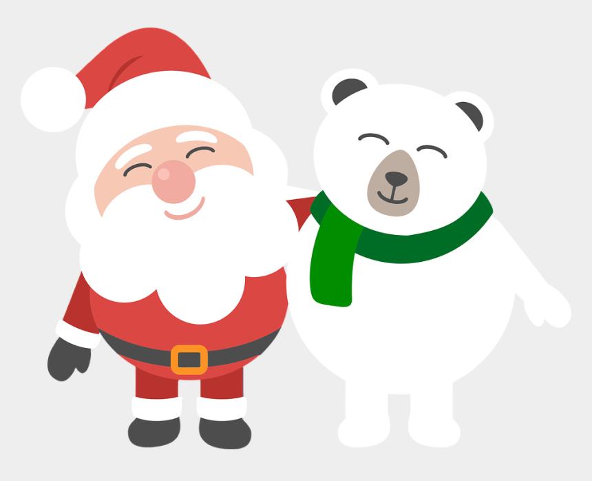 christmas polar bear clip art, Cartoons - Santa, Polar Bear, Christmas, Cartoon, Comic, Holidays - Best Christmas