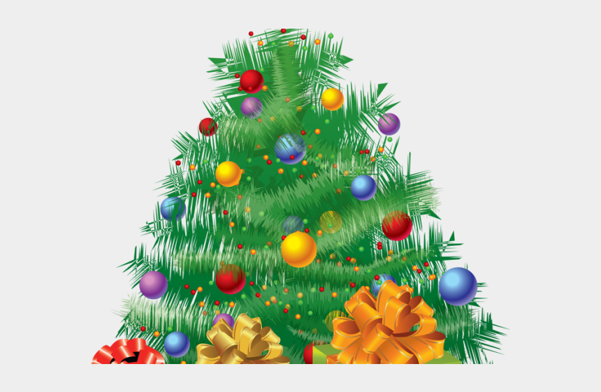 cristmas tree clipart, Cartoons - Christmas Tree Clipart Art Deco - Animated Christmas Tree With Gifts