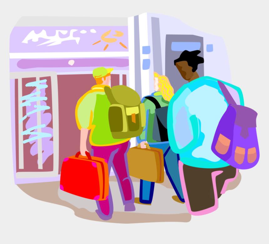 arrive clip art, Cartoons - Airport Vector Terminal - Air Passengers Clipart