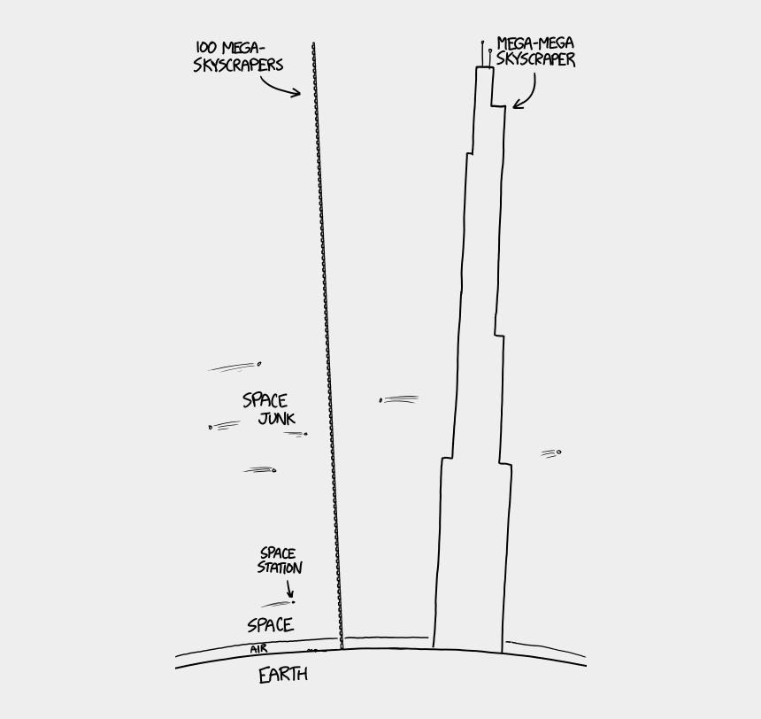 tall building clip art, Cartoons - 1 Billion Floor Skyscraper