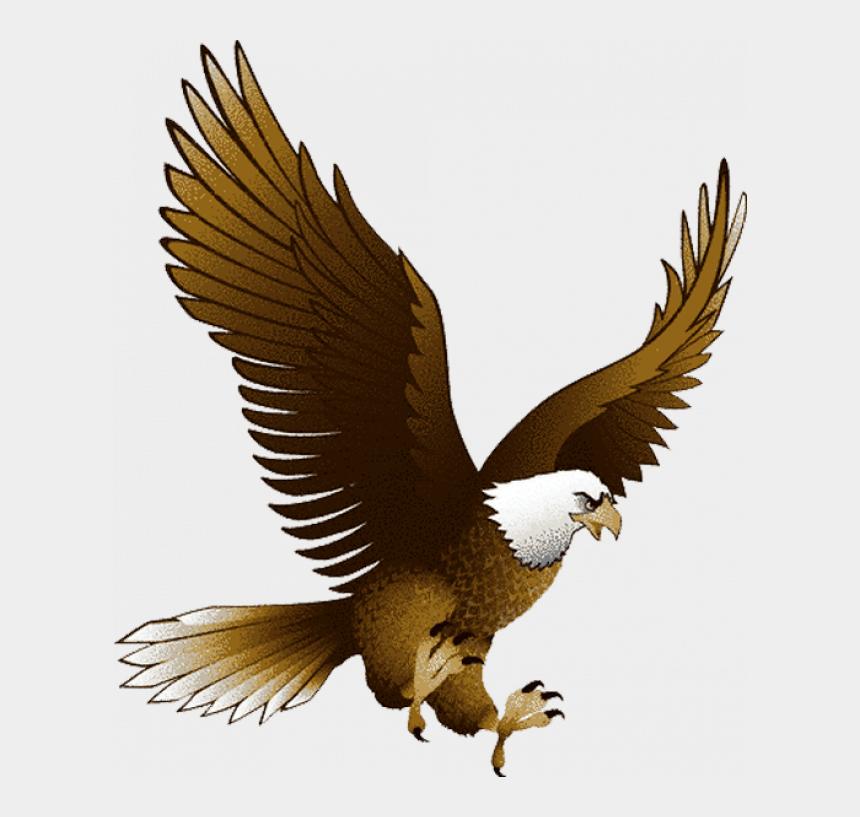 bald eagle clip art black and white, Cartoons - Eagle Png