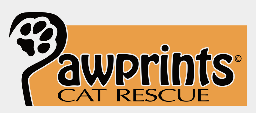 kitty paw prints clip art, Cartoons - Pawprints Cat Rescue Logo