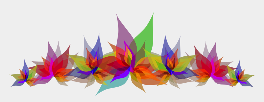 abstract flowers clip art, Cartoons - Art Paper,petal,leaf - Multi Colour Design Png