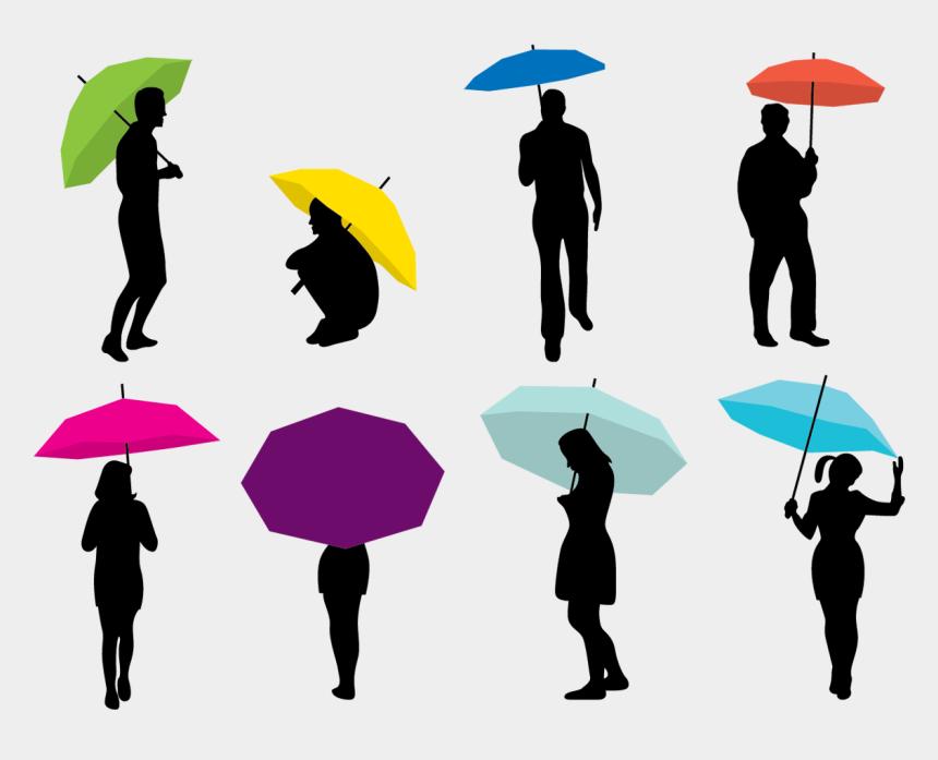 umbrella and rain clip art, Cartoons - Silhouette Umbrella Woman - Umbrella To Rain Png