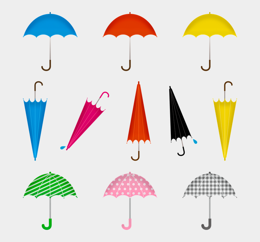 umbrella and rain clip art, Cartoons - Umbrella, Rain, Colorful, People, Weather, Water
