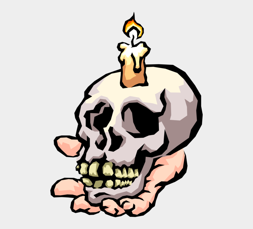 human skull clip art, Cartoons - Vector Illustration Of Human Skull Held In Hand With - Gas Can Kill You