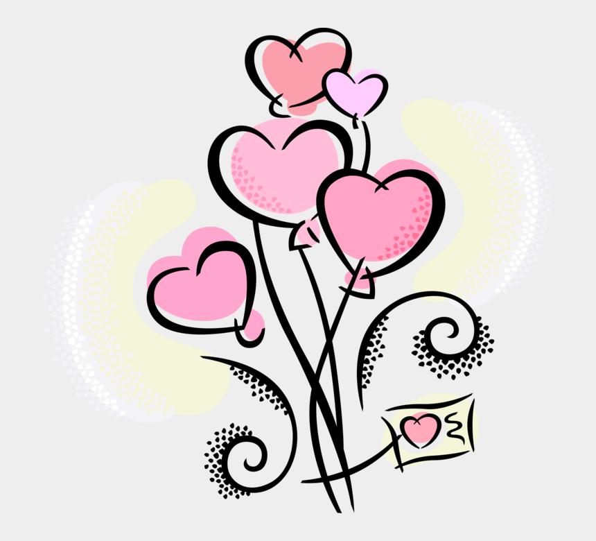 "heart balloons clip art, Cartoons - Vector Illustration Of Valentine""s Day Sentimental - Etapas De La Violencia En El Noviazgo"