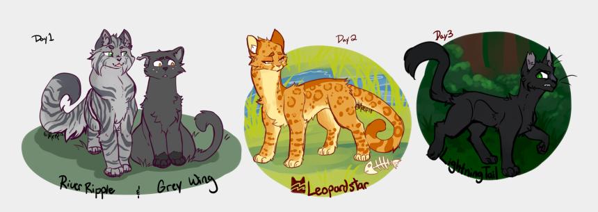 warrior cats clip art, Cartoons - [warriors] My Fav Cats - Warrior Cats Gray Wing And River Ripple