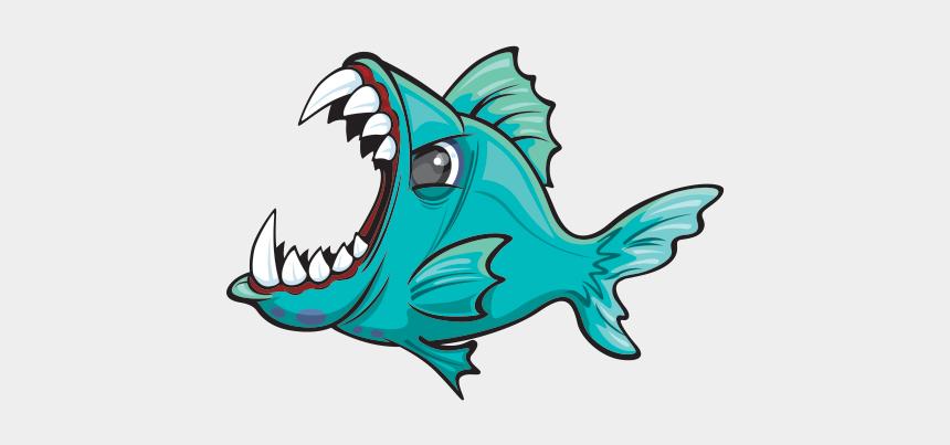 piranha clip art, Cartoons - Red-bellied Piranha Redeye Piranha Freshwater Fish - Bellied Piranha How To Draw A Piranha