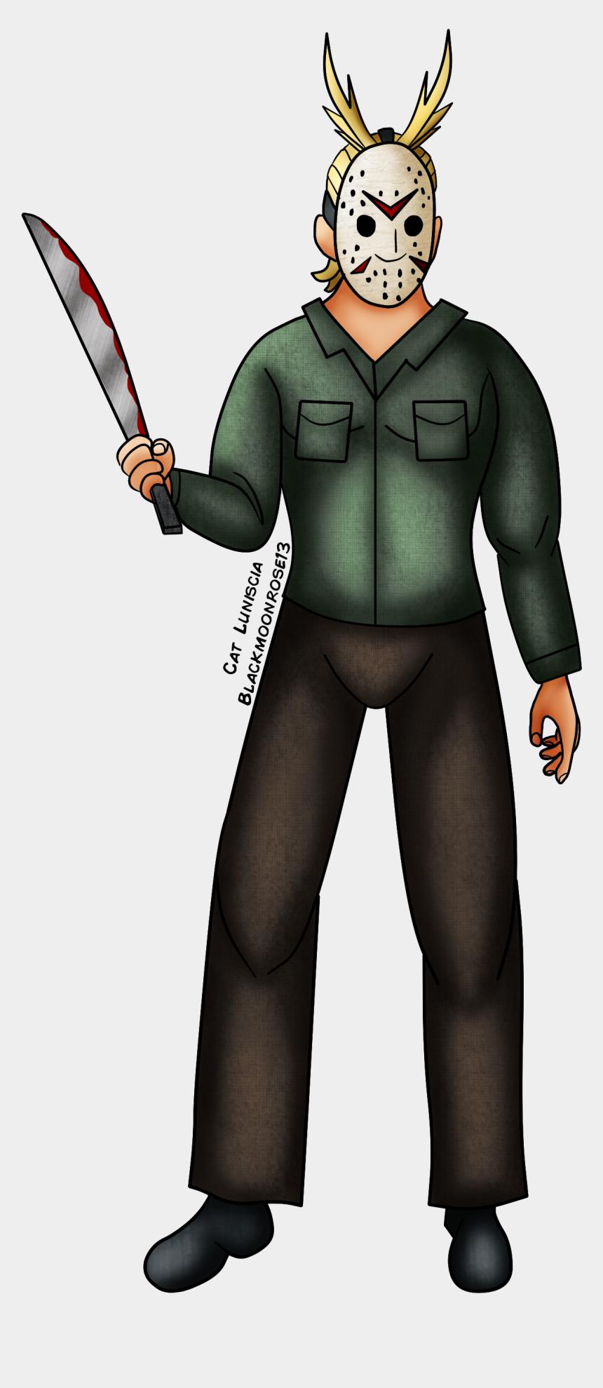 jason voorhees clip art, Cartoons - Jason Voorhees All Might - Jason Voorhees Anime Character