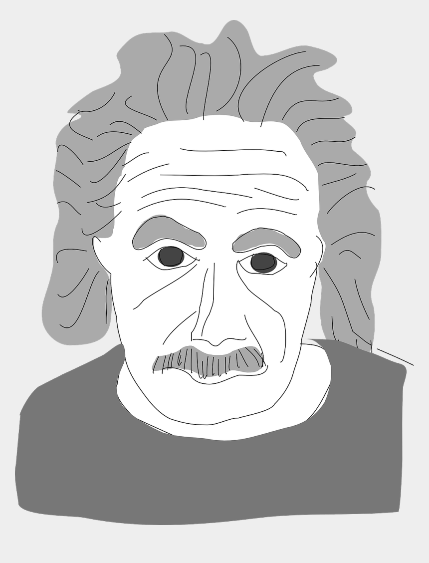 physics clipart black and white, Cartoons - Albert Einstein,theory Of Mc2, - Albert Einstein About Learning