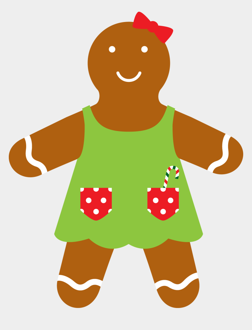 gingerbread girl clipart, Cartoons - Christmas Gingerbread Girl Clip Art - Minus Natal