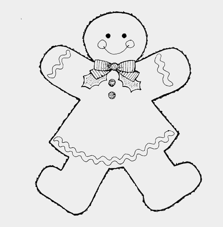 gingerbread girl clipart, Cartoons - Style Gingerbread Boy Coloring Pages - Gingerbread