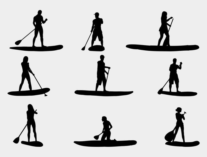 surf board clipart, Cartoons - Clipart Free Stock Surfer Drawing Beach Scene - Stand Up Paddle Vector Free