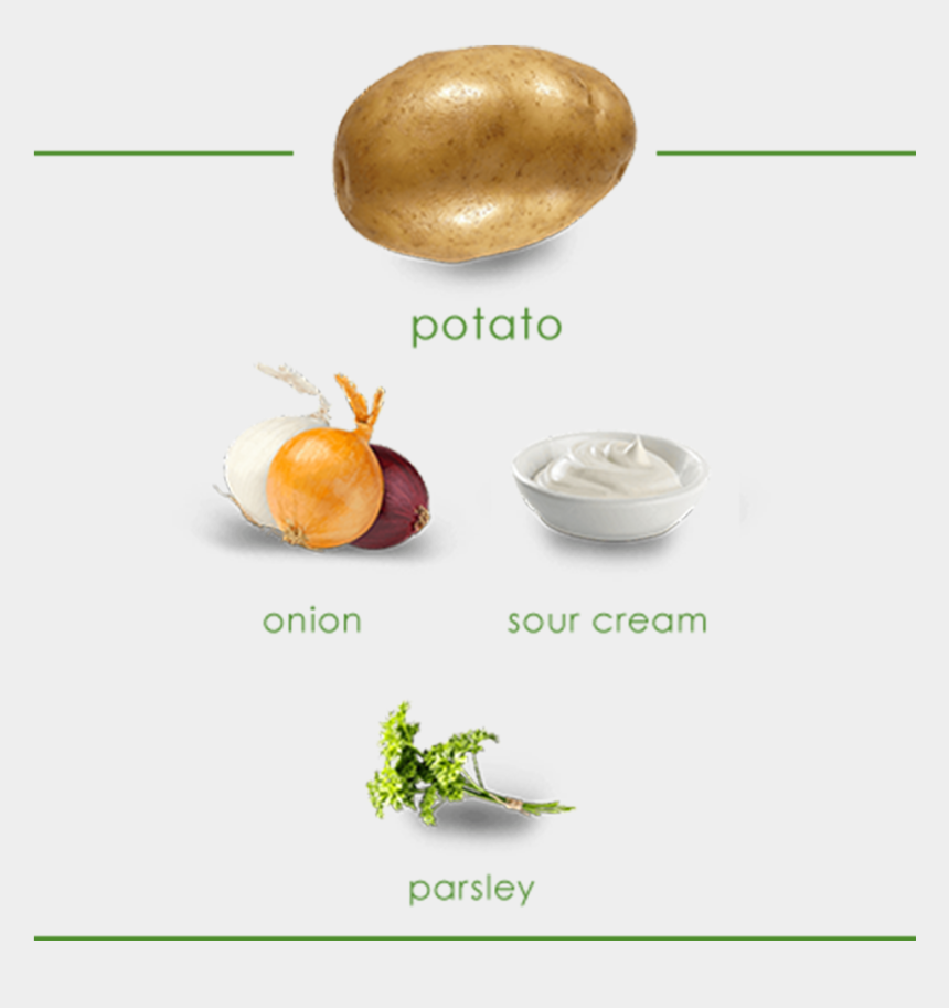 cooking ingredients clipart, Cartoons - Image Shows Ingredients Which Include A Potato, Onion, - Sour Cream And Onion Png
