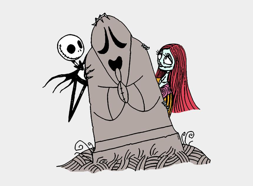 jack clipart, Cartoons - Jack Skellington And Sally Clip Art From The Nightmare - Jack Skeleton Para Colorear Jack
