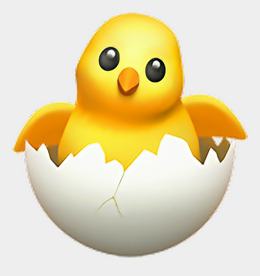 chicken clipart png, Cartoons - Chick Transparent Egg - Hatching Chick Emoji Iphone